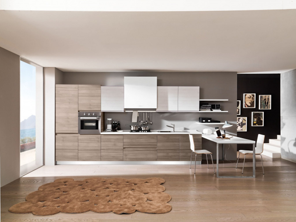 Cucine Moderne In Legno Chiaro.Cucine Moderne Centomo Floriano Arreda Cucina In Legno