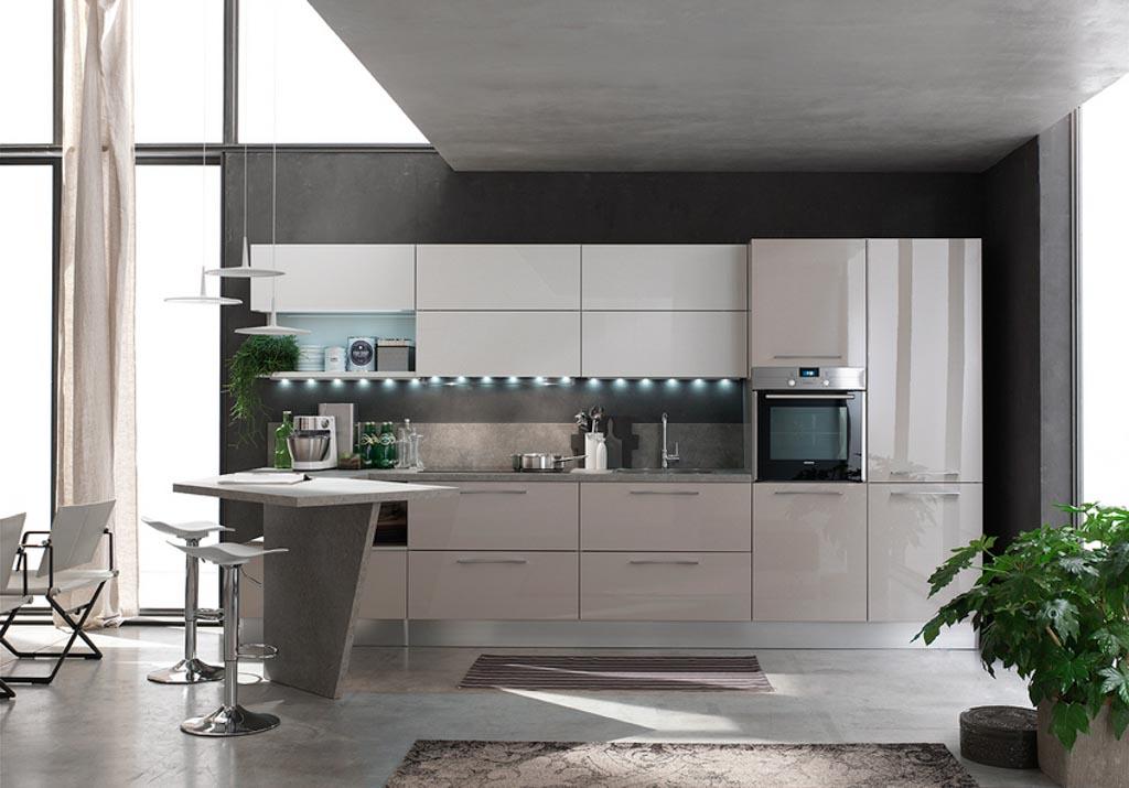Cucine moderne centomo floriano arreda cucina in legno - Cucine colorate moderne ...