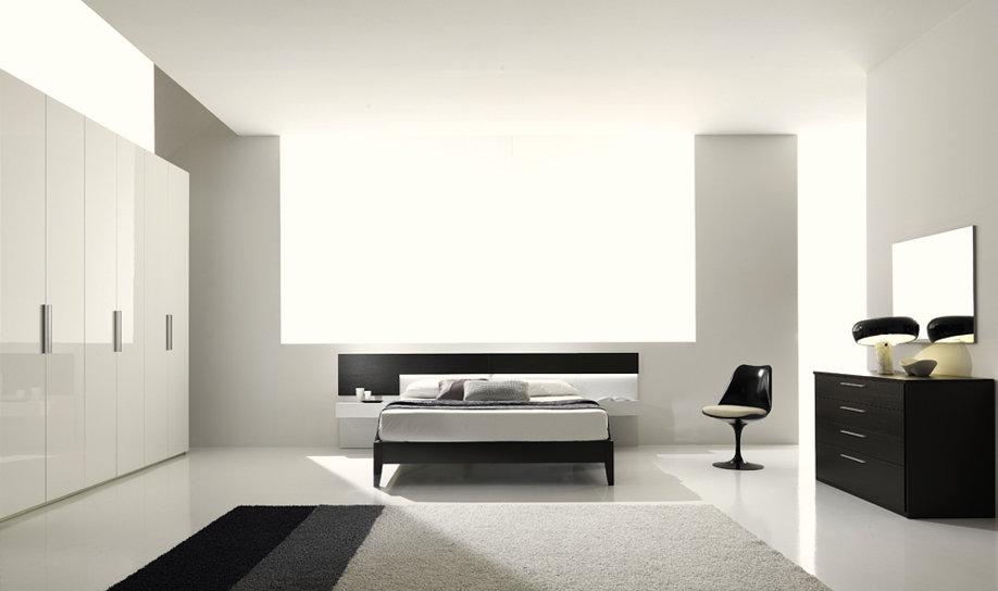 Camere Da Letto Moderne Wenge : Armadio ad angolo con cabina in finitura bianco lucido