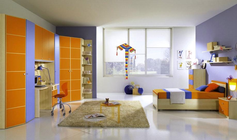 Camerette moderne per bambini centomo floriano arreda for Armadio cameretta bimba