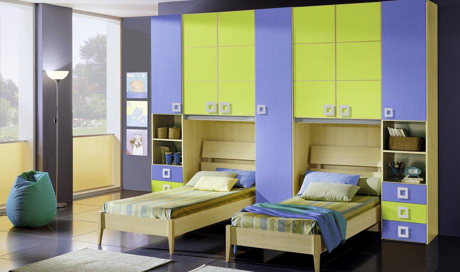 Camere Per Ragazzi 2 Letti : Camerette moderne per bambini centomo floriano arreda