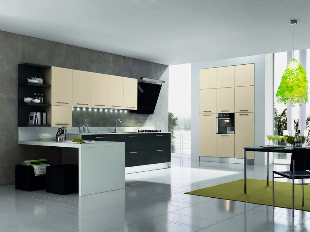 Cucine moderne centomo floriano arreda cucina in legno - Cucine color panna ...