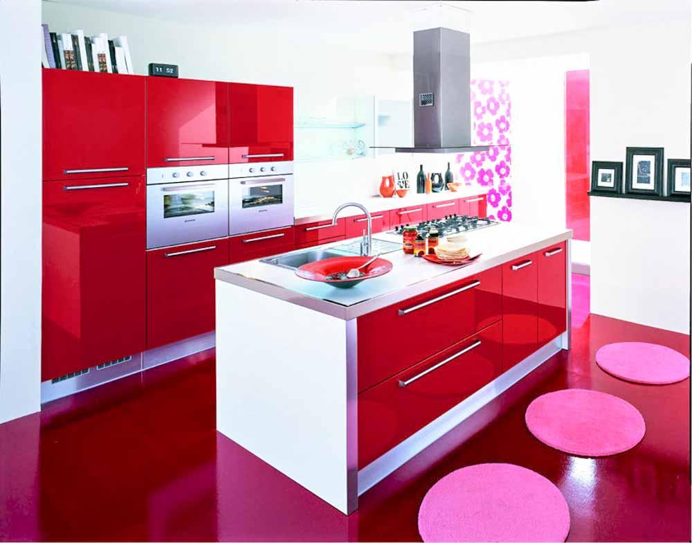 cucine moderne rosse  pasionwe, Disegni interni