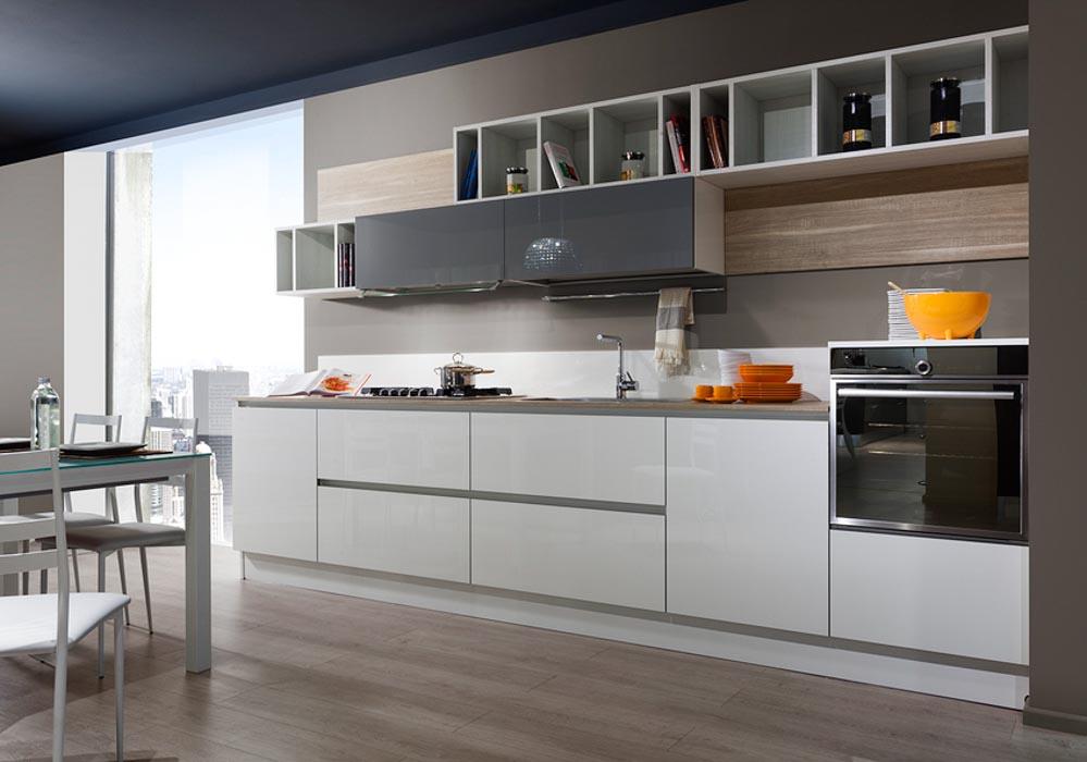 Cucine moderne centomo floriano arreda cucina in legno - Cucina grigio antracite ...