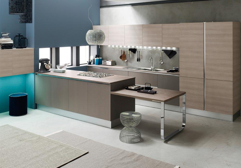 Cucine moderne centomo floriano arreda cucina in legno - Cucine a ferro di cavallo ...