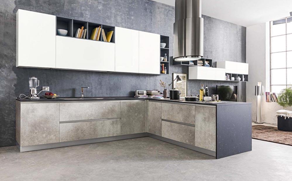 Cucina rovere sbiancato e bianco moderna cucina matrix berloni notizie - Cucina rovere sbiancato e bianco ...