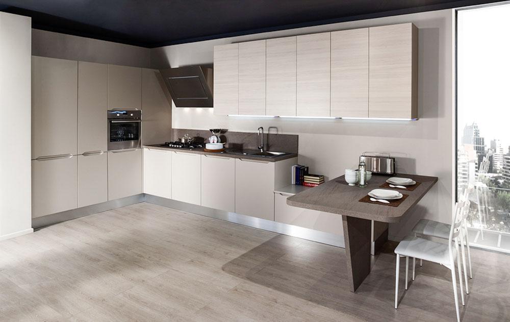Cucine moderne centomo floriano arreda cucina in legno - Cucina bianca e tortora ...