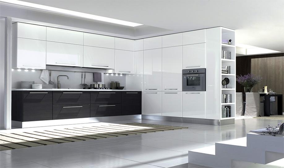 Cucine moderne centomo floriano arreda cucina in legno - Cucine componibili bianche ...