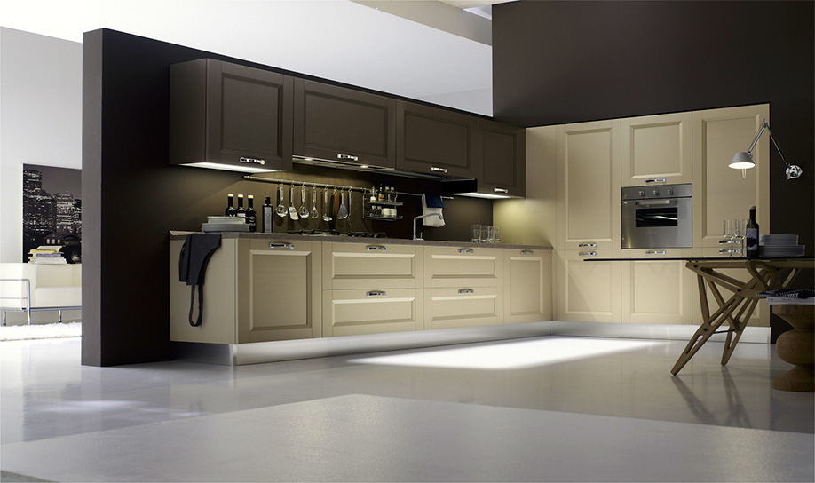 Parete Tortora Cucina Bianca: Abbinamento pareti grigie e cucina tortora grigio.