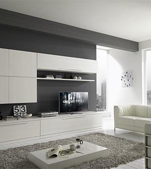 Soggiorno moderno bianco awesome arredamento soggiorno for Soggiorni bianchi